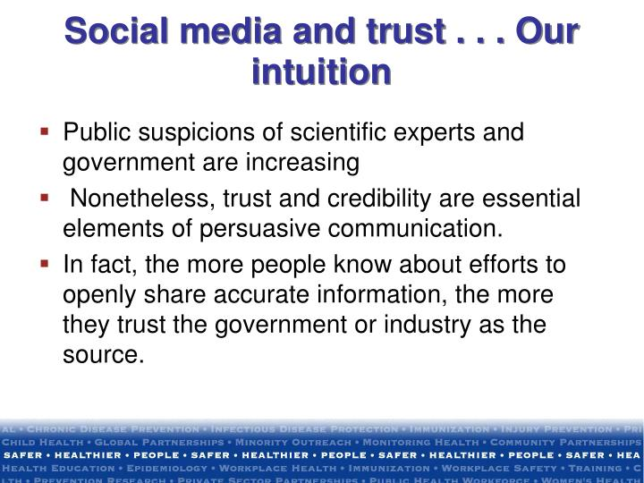 Social media and trust . . . Our intuition
