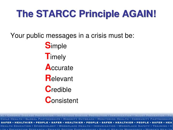 Your public messages in a crisis must be: