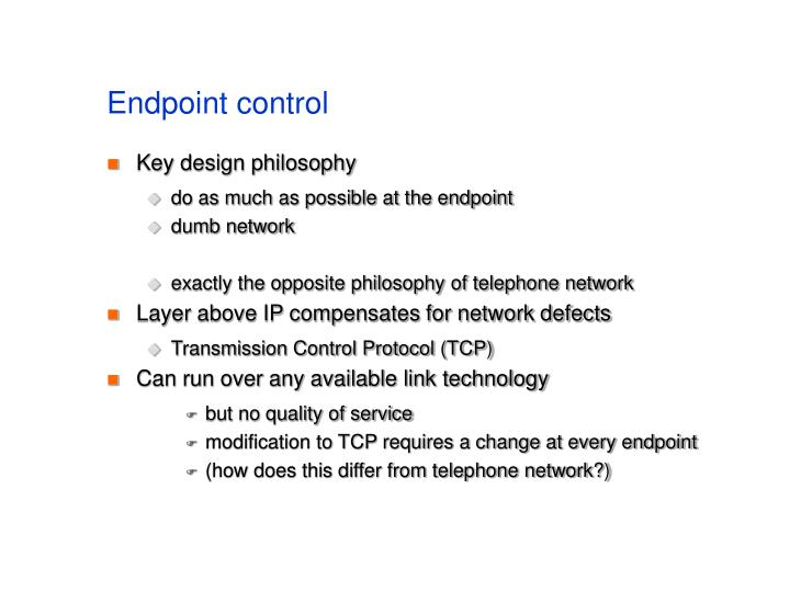 Endpoint control
