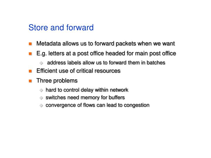 Store and forward