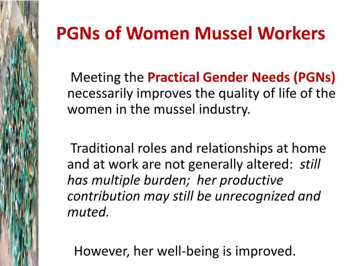 PGNs of Women Mussel Workers