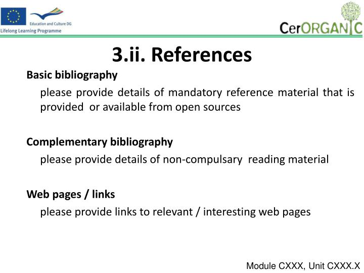 3.ii. References