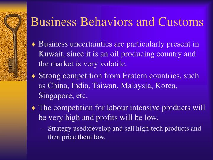 Business Behaviors and Customs