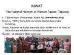 inwat international network of women against tobacco