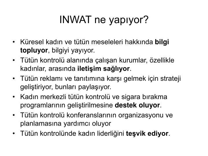 INWAT ne yapıyor?