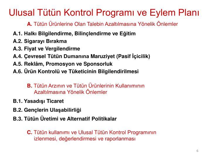 Ulusal Tütün Kontrol Programı ve Eylem Planı