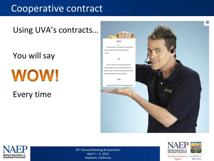 Cooperative contract