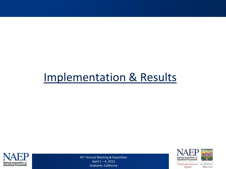 Implementation & Results