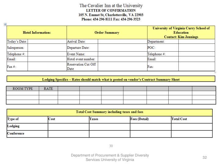Department of Procurement & Supplier Diversity Services University of Virginia