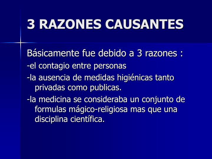 3 RAZONES CAUSANTES