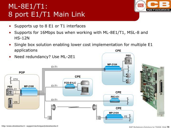 ML-8E1/T1: