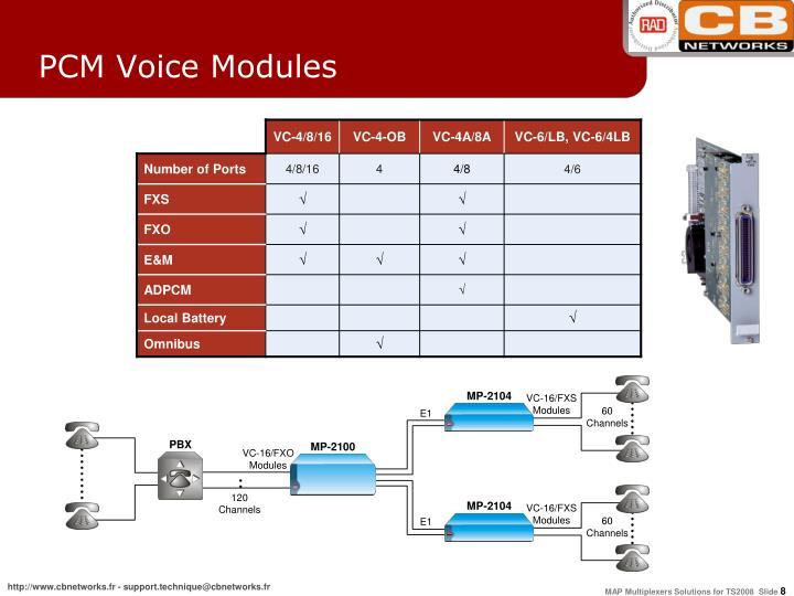 PCM Voice Modules