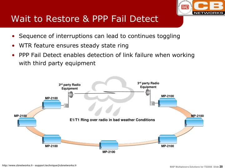 Wait to Restore & PPP Fail Detect