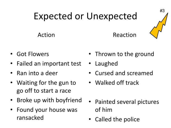 Expected or Unexpected