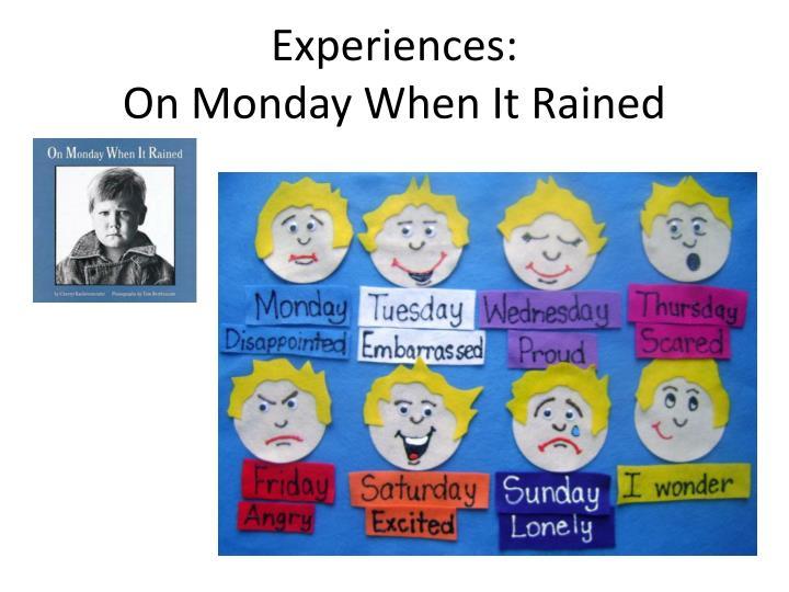 Experiences: