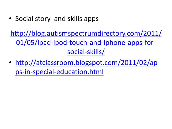 http://blog.autismspectrumdirectory.com/2011/01/05/ipad-ipod-touch-and-iphone-apps-for-social-skills/