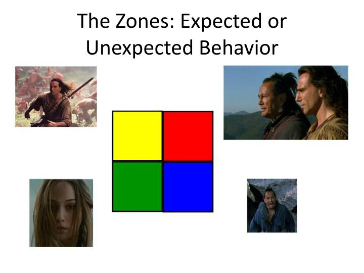 The Zones: Expected or Unexpected Behavior