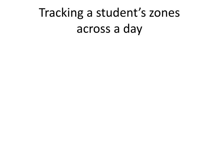 Tracking a student's zones