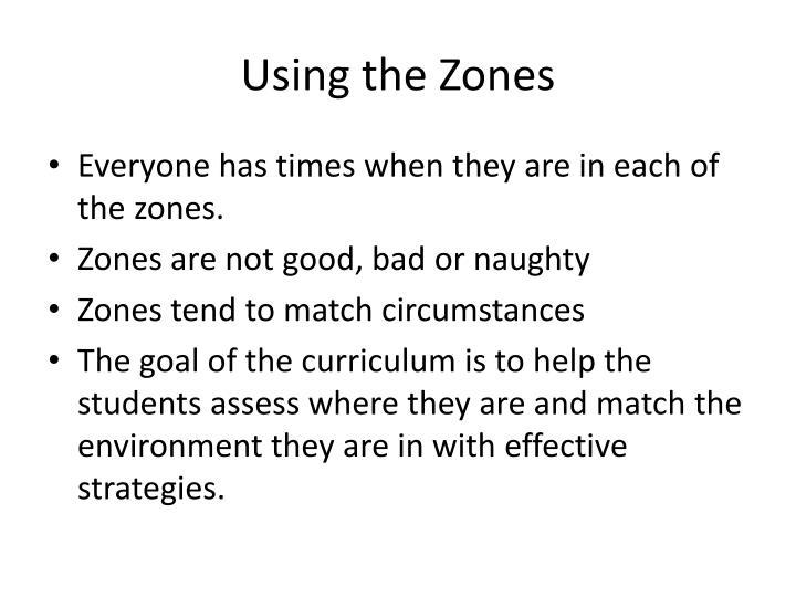 Using the Zones