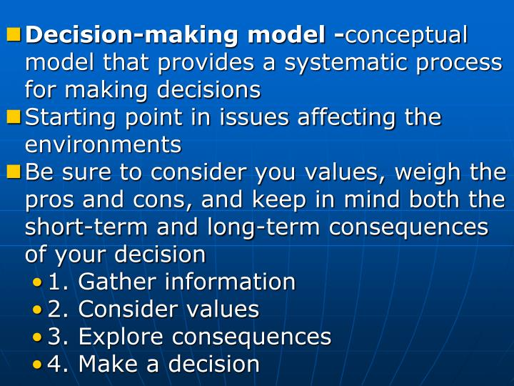 Decision-making model -