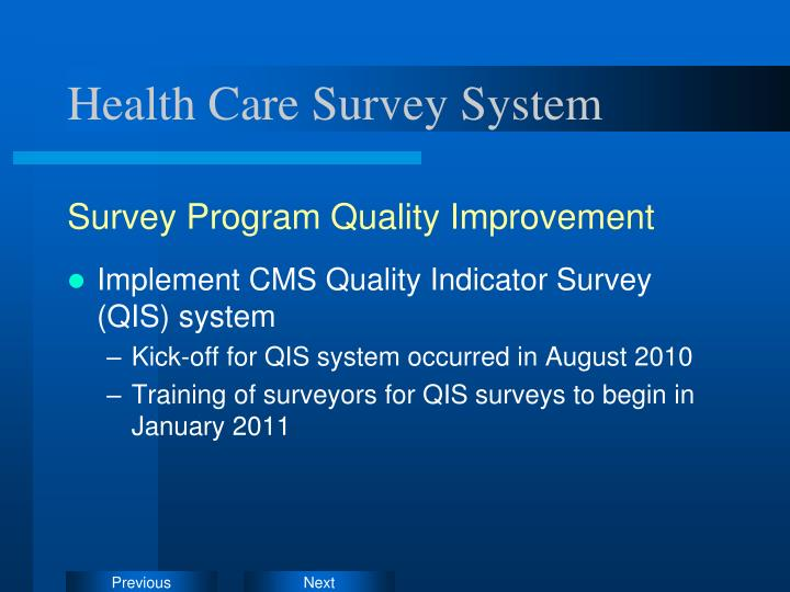 Health Care Survey System