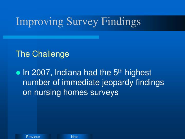 Improving Survey Findings