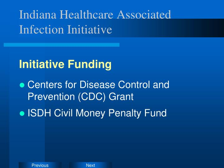 Indiana Healthcare Associated Infection Initiative