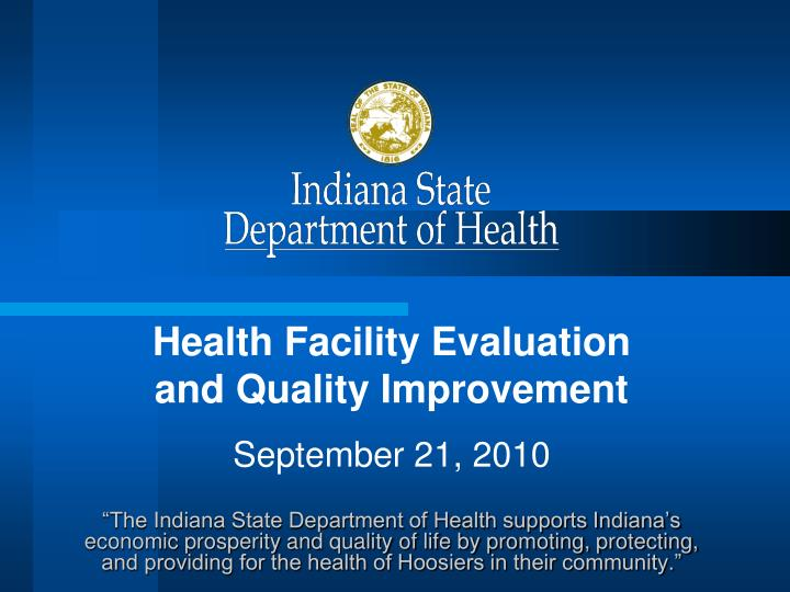 Health Facility Evaluation