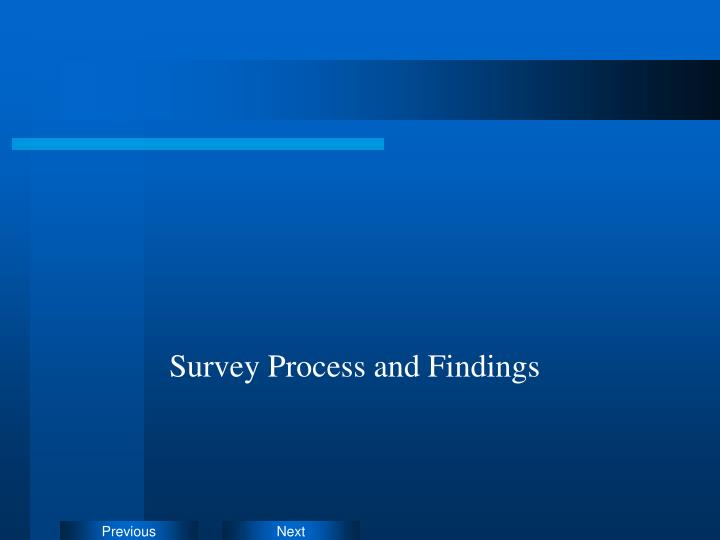 Survey Process and Findings