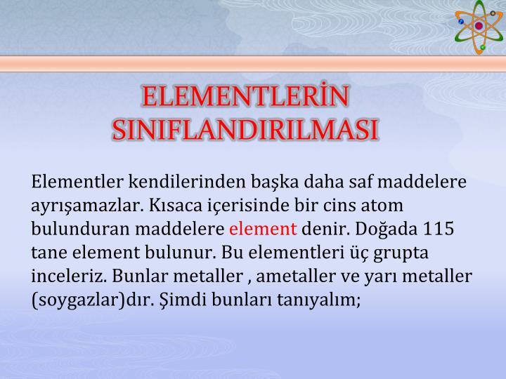 ELEMENTLERİN