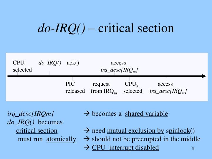 Do irq critical section