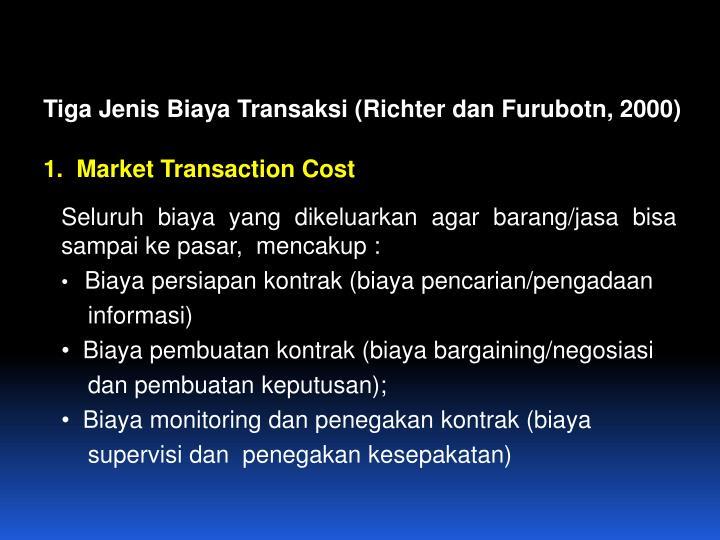 Tiga Jenis Biaya Transaksi (