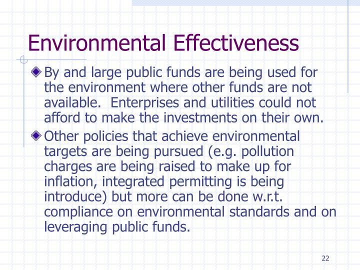 Environmental Effectiveness