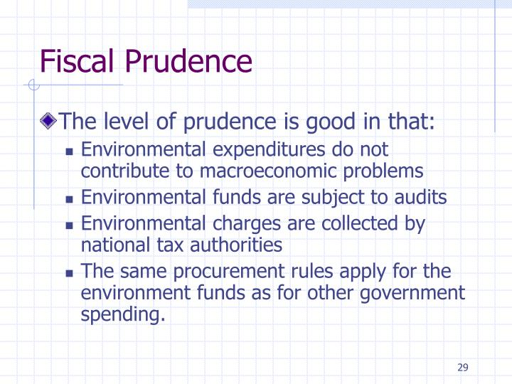 Fiscal Prudence