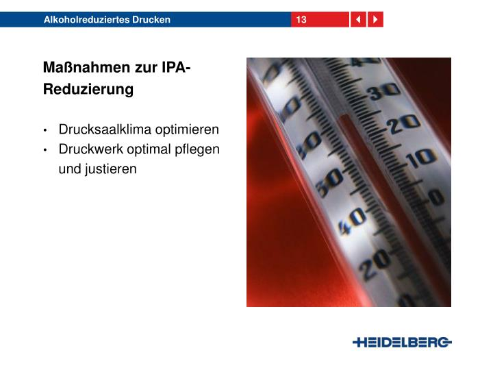 Alkoholreduziertes Drucken