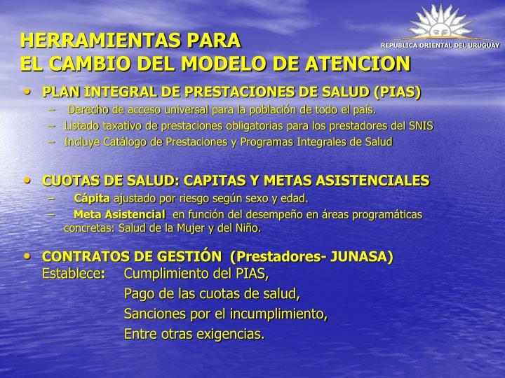 PLAN INTEGRAL DE PRESTACIONES DE SALUD (PIAS)