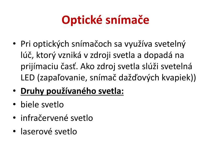 Optické snímače