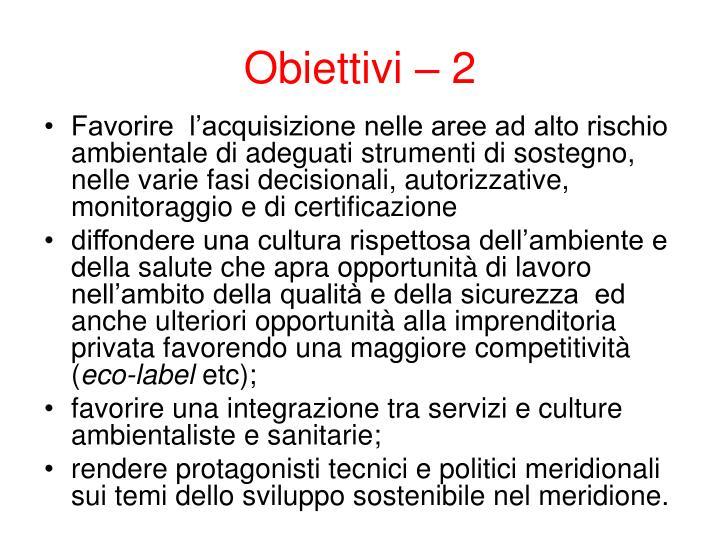 Obiettivi – 2