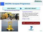degima european programmes