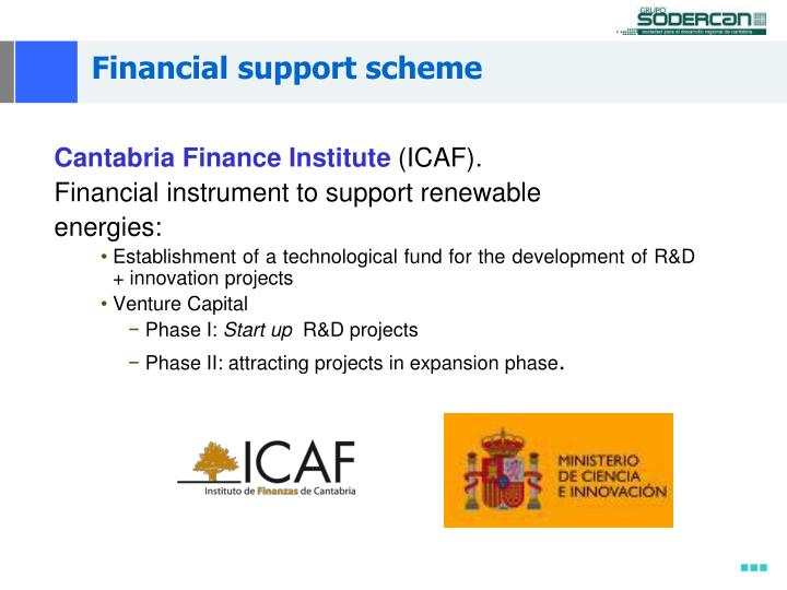 Financial support scheme