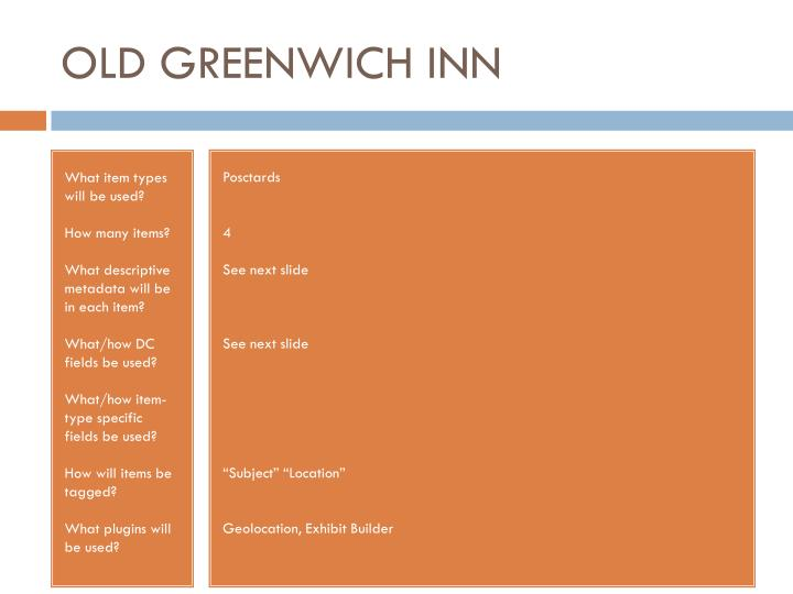 OLD GREENWICH INN