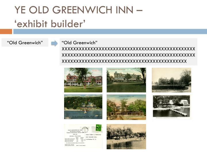 YE OLD GREENWICH INN –