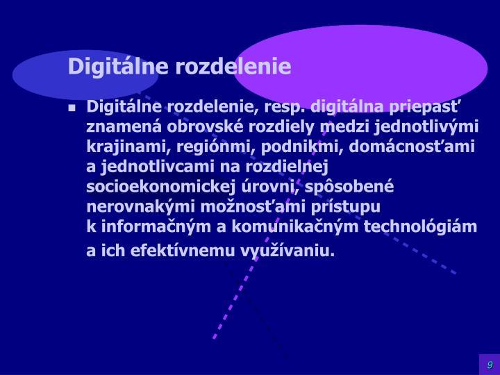 Digitálne rozdelenie
