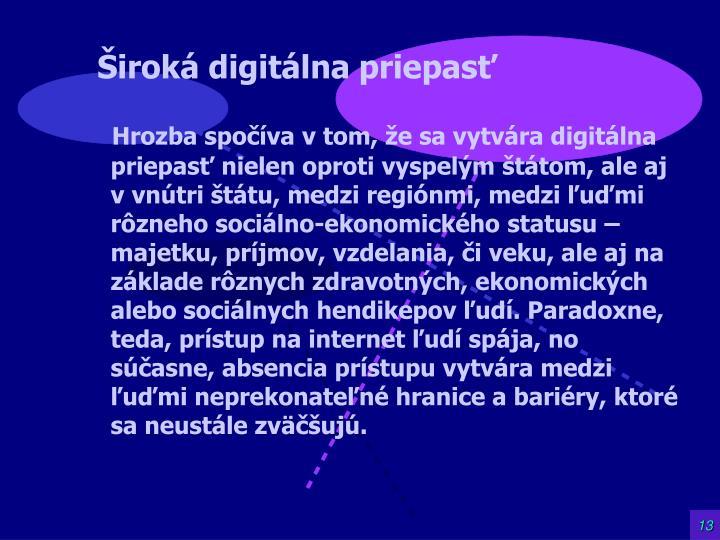 Široká digitálna priepasť