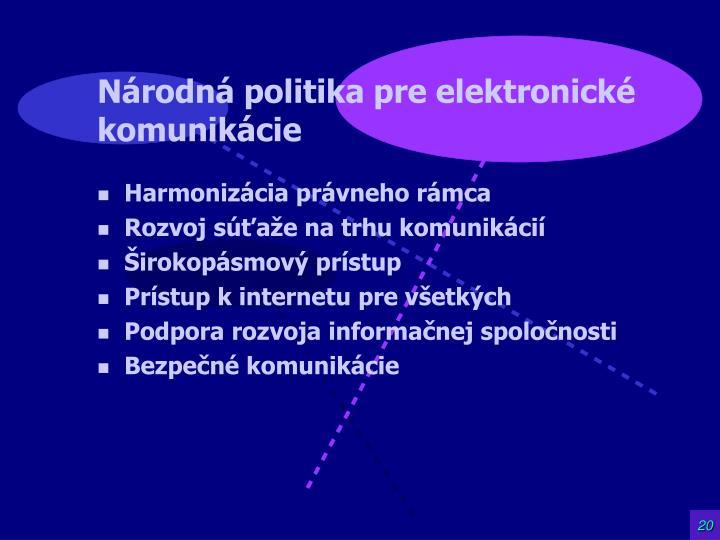 Národná politika pre elektronické komunikácie