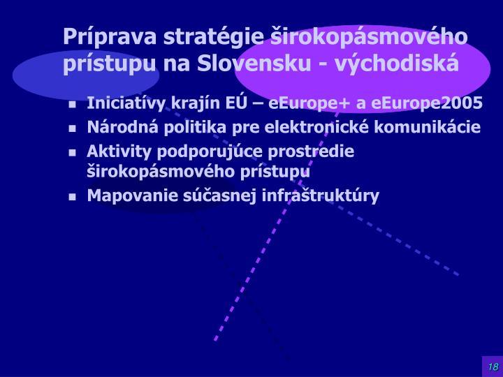 Príprava stratégie širokopásmového prístupu na Slovensku - východiská