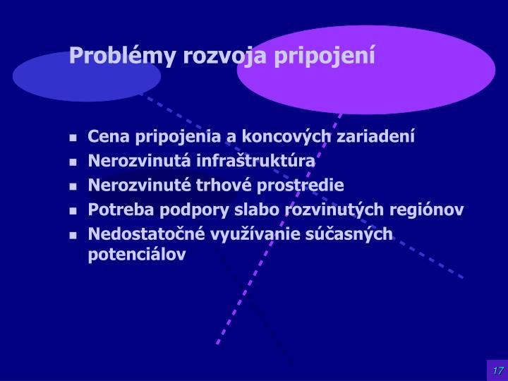 Problémy rozvoja pripojení