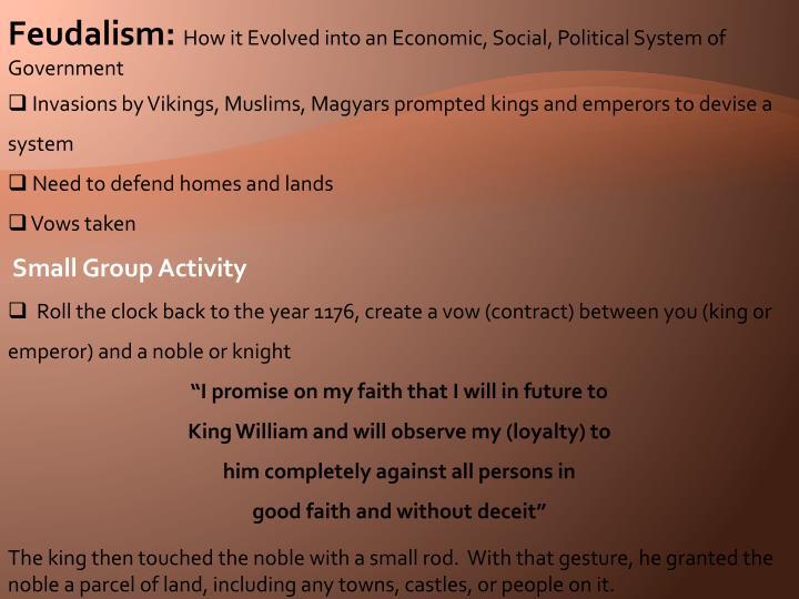 Feudalism: