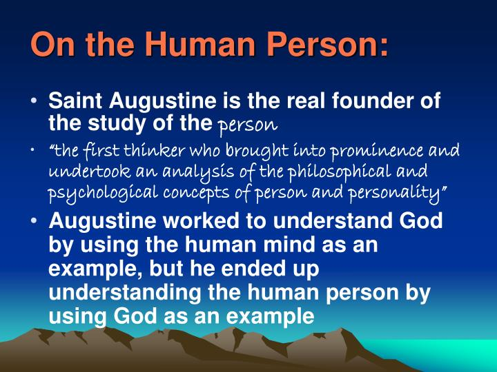 On the Human Person: