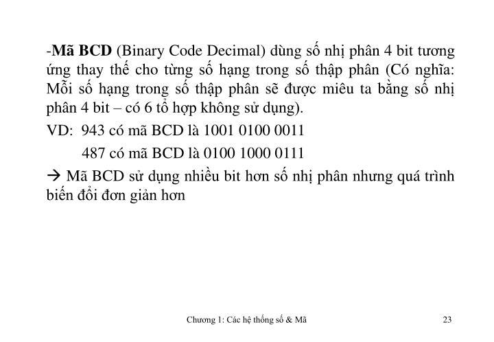 Mã BCD